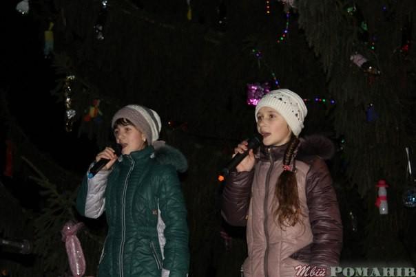 Відкриття ялинки у Мирополі. Фото Петра Клименка